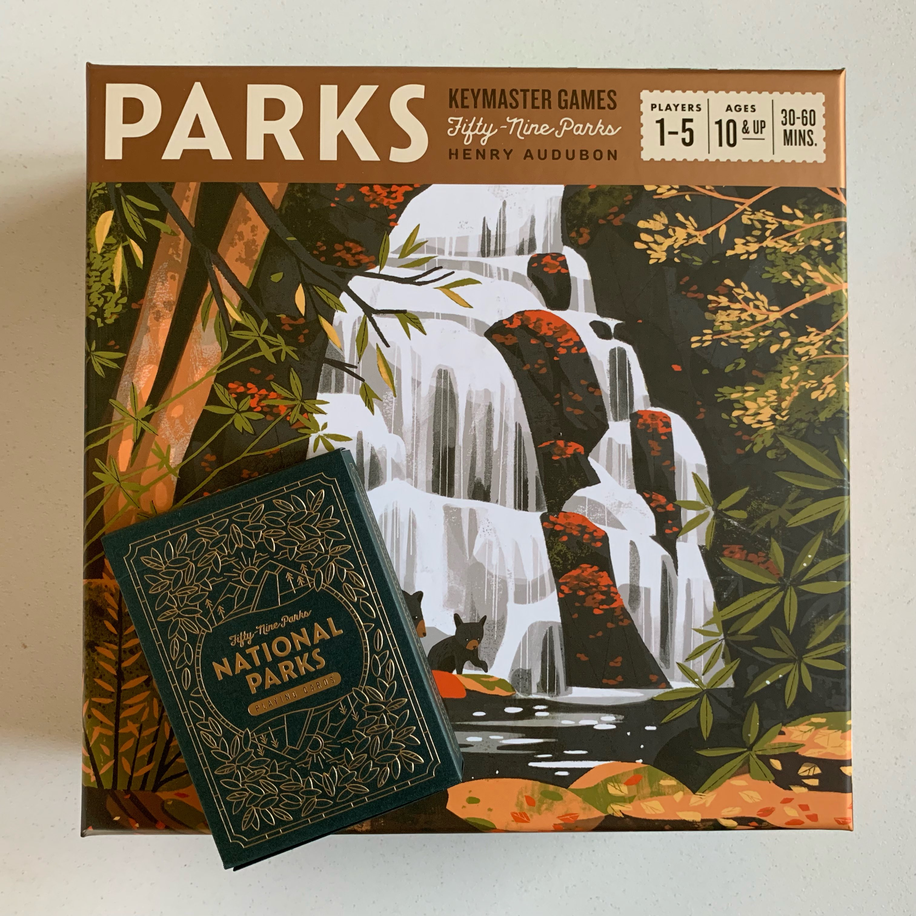 Parks board game box